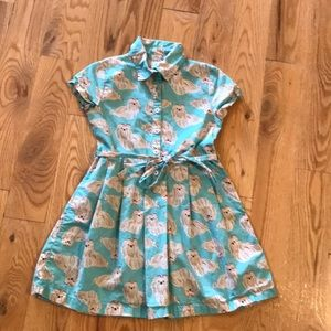 Carter's dress teal with dogs